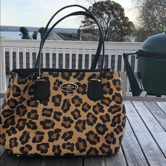 3447911c9070 Coach Handbags - Leopard print coach purse